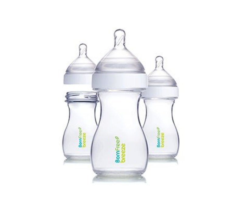 Born Free Breeze Plastic Bottle - 3 Pack (5 Ounce)