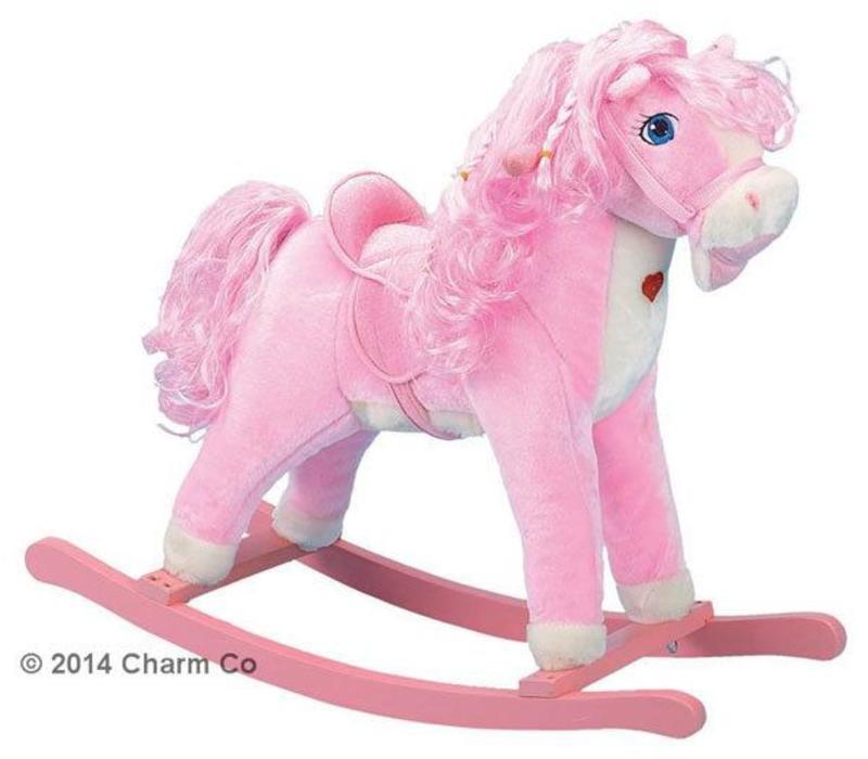 Charm Pink Horse Rocker (Pink Heart Lights Up)