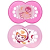 Mam Mam Night Silicone Pacifier 2-Pack (Assorted) - 6 + Months