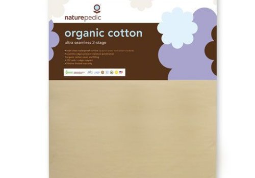 "Naturepedic SALE!! Naturepedic Crib Mattress Organic Cotton Ultra 252 Coils Seamless 2-Stage 28"" x 52"" x 6"""