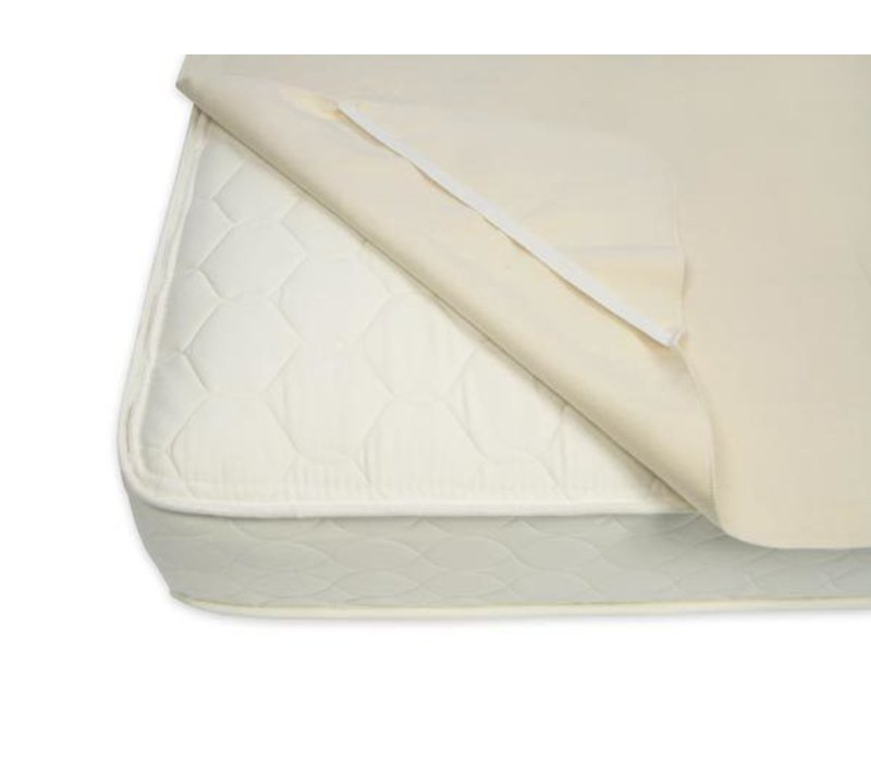 Naturepedic Organic Cotton Waterproof Protector Pad - Twin with Straps