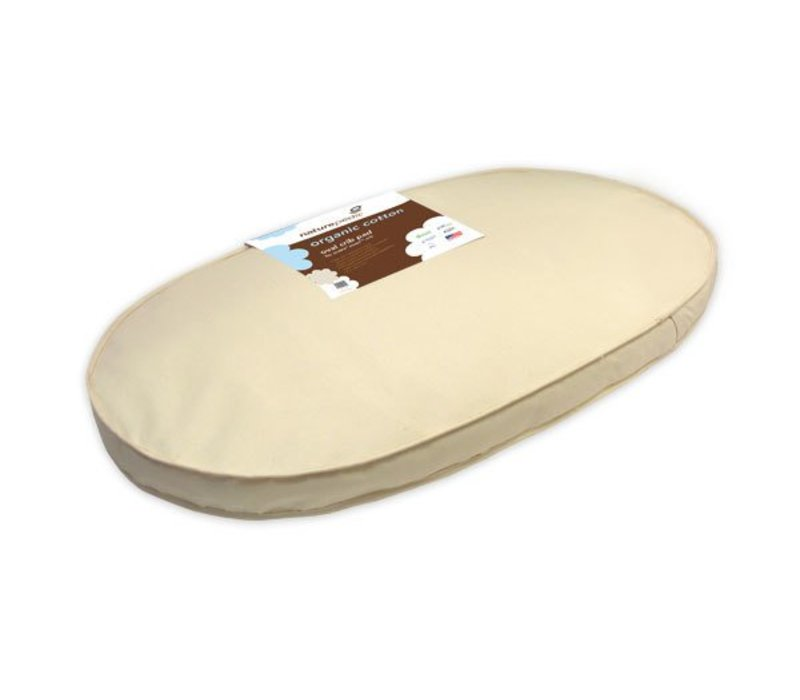 Naturepedic Organic Cotton Crib Mattress Oval Fits Sleepi Crib