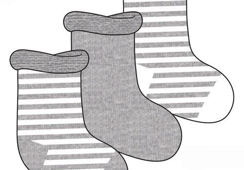 Play Tots Play Tots Infant Socks 3 In A Pack 0-3 Months In Grey