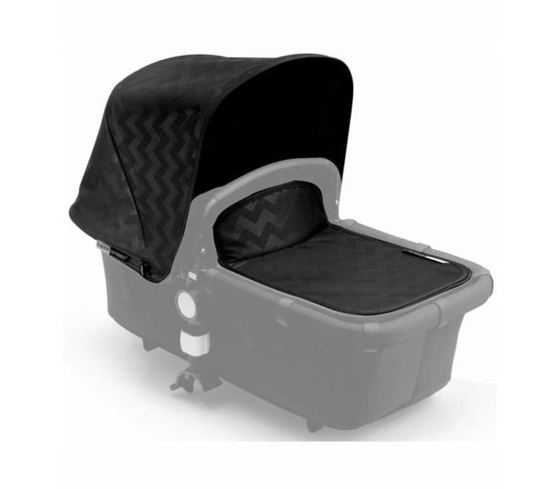CLOSEOUT!! Bugaboo Cameleon3 Tailored Set Extendable Sun Canopy In Shiny Chevron