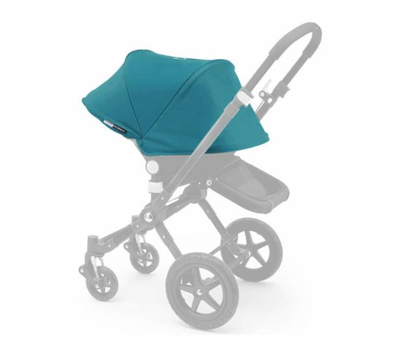 2017 Bugaboo Cameleon3 Tailored Set Extendable Sun Canopy In Petrol Blue