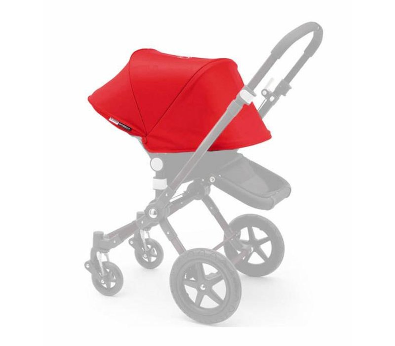 2017 Bugaboo Cameleon3 Tailored Set Extendable Sun Canopy In Red