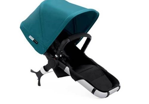 Bugaboo Bugaboo Runner Seat Includes Extendable Canopy In Black-Petrol Blue