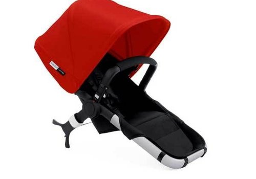 Bugaboo Bugaboo Runner Seat Includes Extendable Canopy In Black-Red