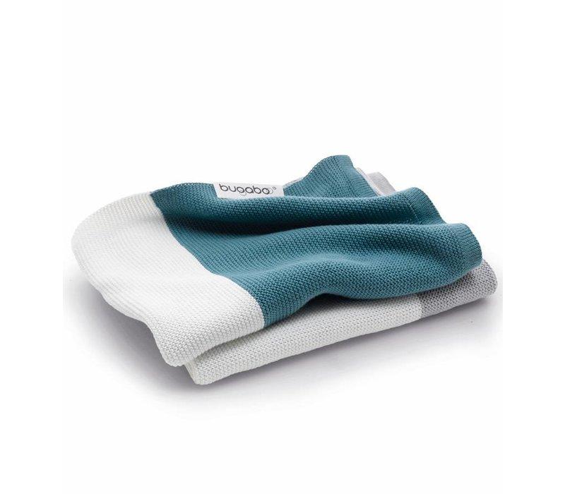 Bugaboo Light Cotton Blanket In Petrol Blue Multi