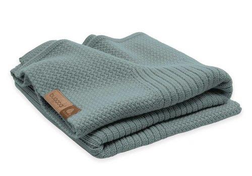 Bugaboo Bugaboo Wool Blanket 100% Extra Fine Merino Wool In Petrol Blue Melange
