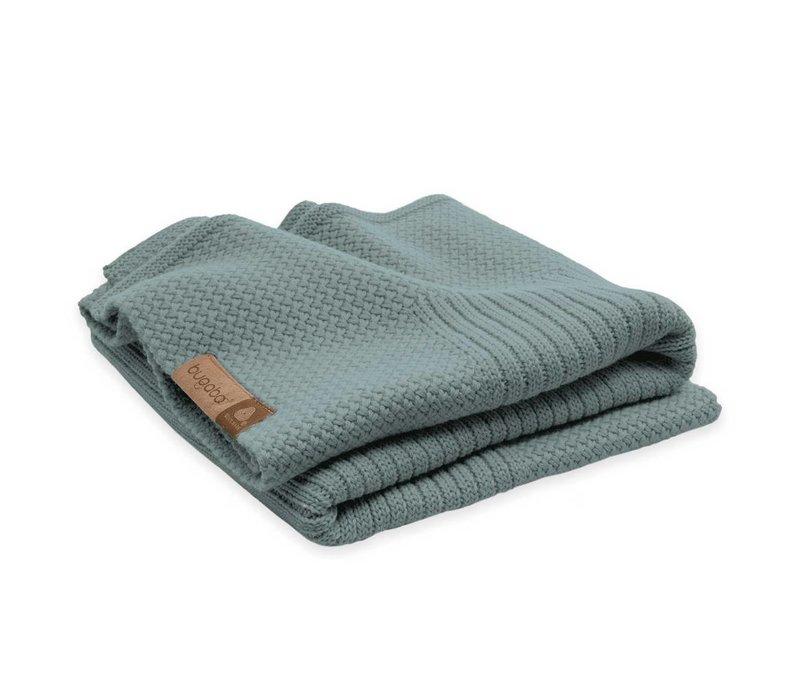 Bugaboo Wool Blanket 100% Extra Fine Merino Wool In Petrol Blue Melange