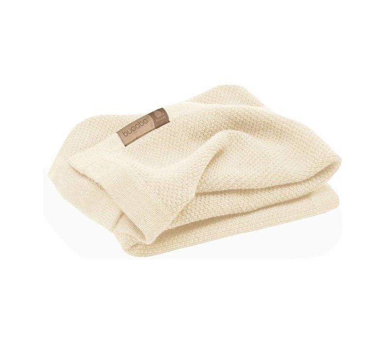 Bugaboo Wool Blanket 100% Extra Fine Merino Wool In Off White Melange