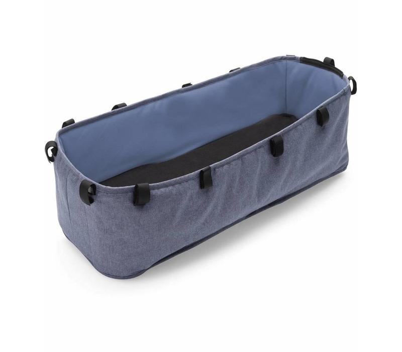 Bugaboo Donkey2 Bassinet Fabric Complete In Blue Melange  (BOX 7)