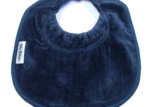 Silly Billyz SillY BillyZ Snuggly Toweling Biblet 0-2 Years In Navy