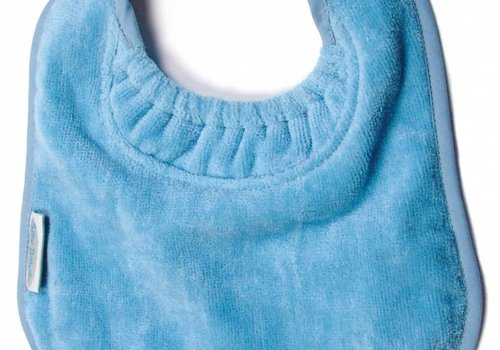 Silly Billyz SillY BillyZ Velour Plain Bib 6 Months - 3 Yrs In Sky Blue