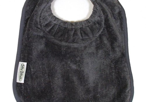 Silly Billyz SillY BillyZ Velour Plain Bib 6 Months - 3 Yrs In Dark Gray