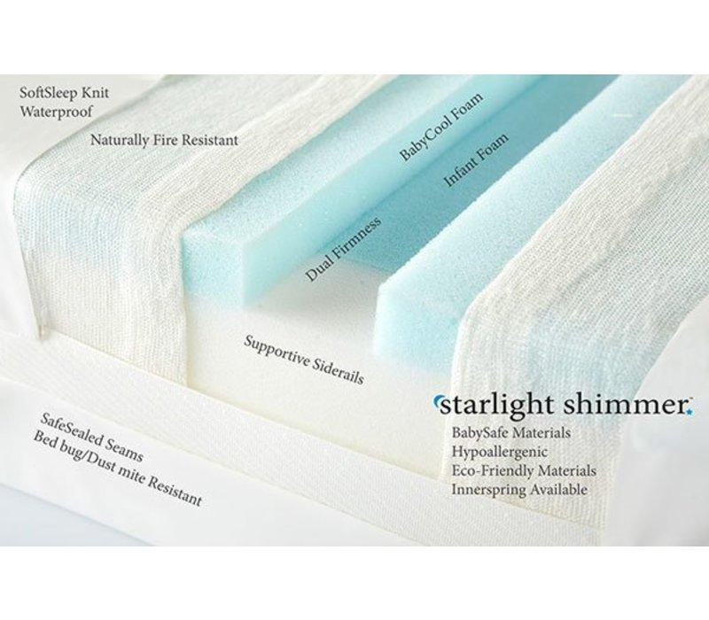 Moonlight Slumber Shimmer Twin Foam Mattress With BabyCool