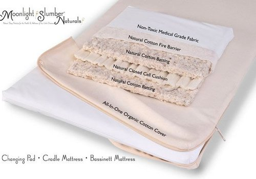 Moonlight Slumber Moonlight Slumber Natural Cotton Cradle Mattress with Organic Cotton Coverlet