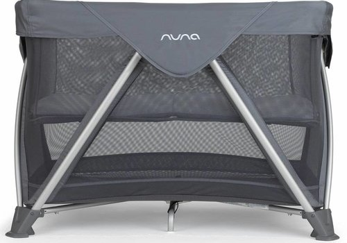 Nuna Nuna Sena Aire Pack and Play Playard Travel Crib With Bassinet In Graphite