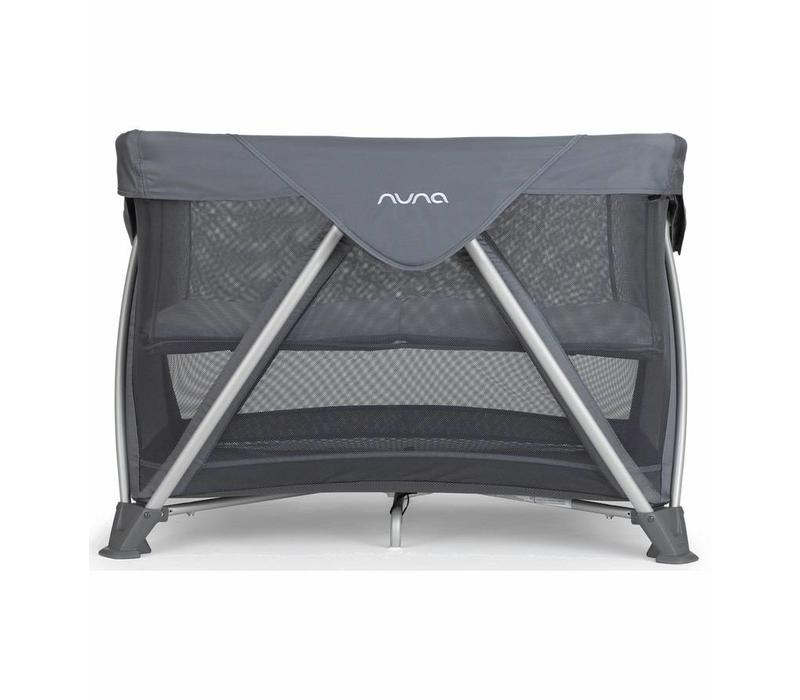 Nuna Sena Aire Pack and Play Playard Travel Crib With Bassinet In Graphite