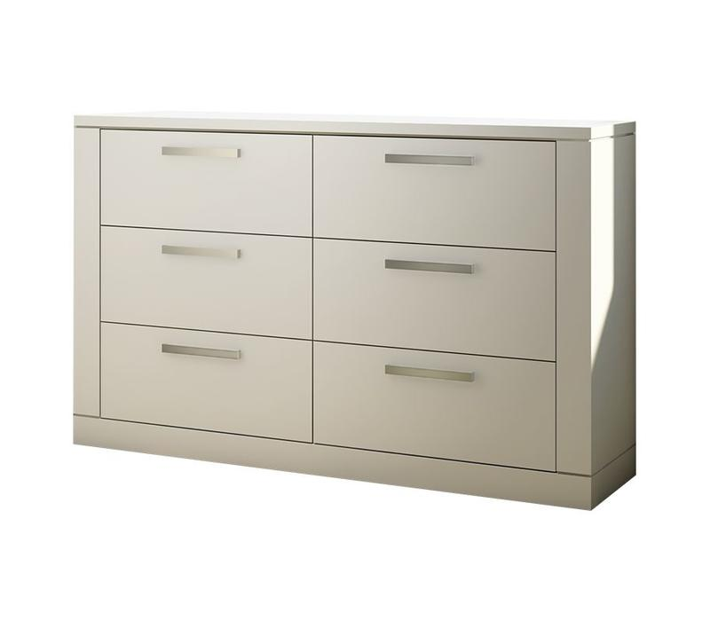 Nest Milano  Drawer Double Dresser In White
