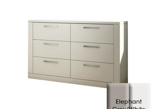 Nest Juvenile Nest Milano Drawer Double Dresser In Elephant Grey-White
