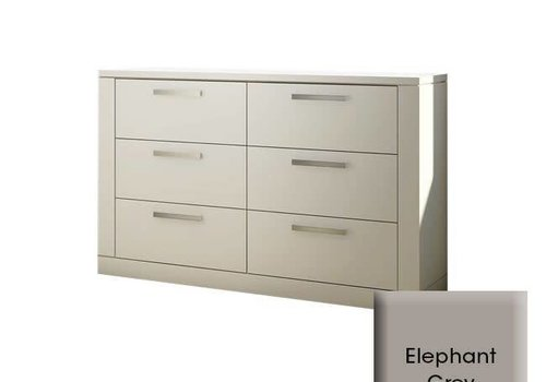 Nest Juvenile Nest Milano Drawer Double Dresser In Elephant Grey
