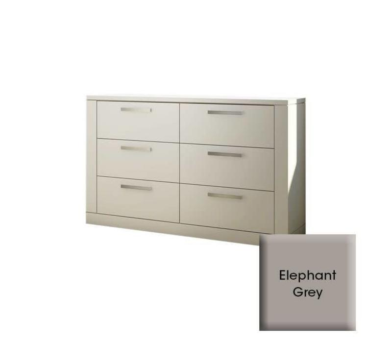 Nest Milano Drawer Double Dresser In Elephant Grey