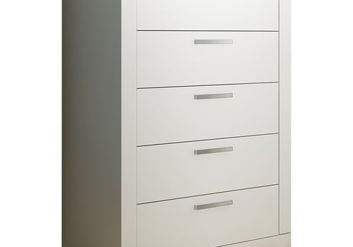 Nest Juvenile Nest Milano 5 Drawer Dresser In White