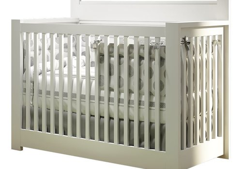 Nest Juvenile Nest Milano 4 In 1 Convertible Crib In White