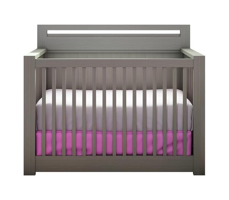 Nest Milano 4 In 1 Convertible Crib In Elephant Gray