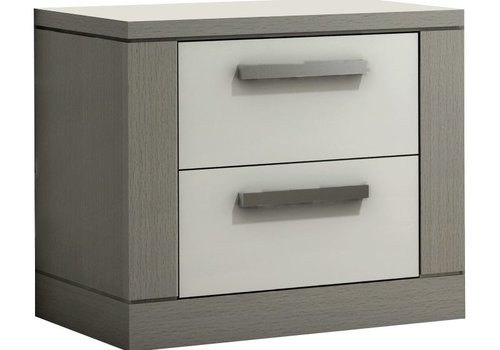 Nest Juvenile Nest Milano Nighstand In Elephant Grey-White