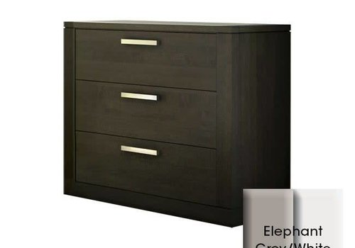 Nest Juvenile Nest Milano 3 Drawer Dresser In Elephant Grey-White