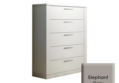 Nest Juvenile Nest Milano 5 Drawer Dresser In Elephant Grey