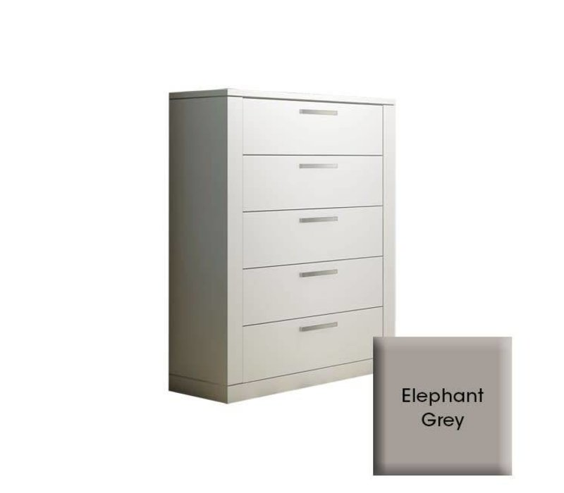 Nest Milano 5 Drawer Dresser In Elephant Grey