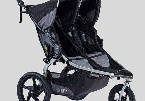 BOB 2018 BOB Revolution Flex Duallie Double Stroller In Black-Black