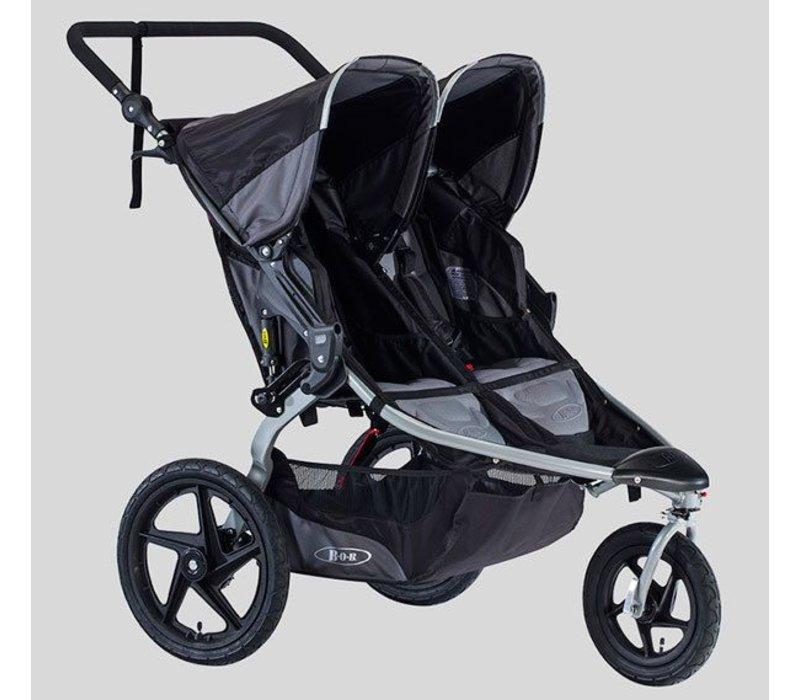 2018 BOB Revolution Flex Duallie Double Stroller In Black-Black