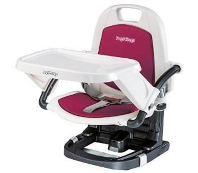 Peg Perego Rialto Booster Seat Highchair In Berry