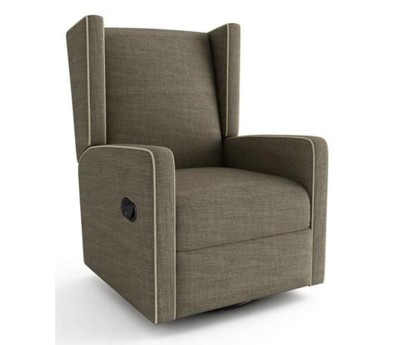 Mon Bebe Recliner In Milford Dolphin (Brown) With White Piping