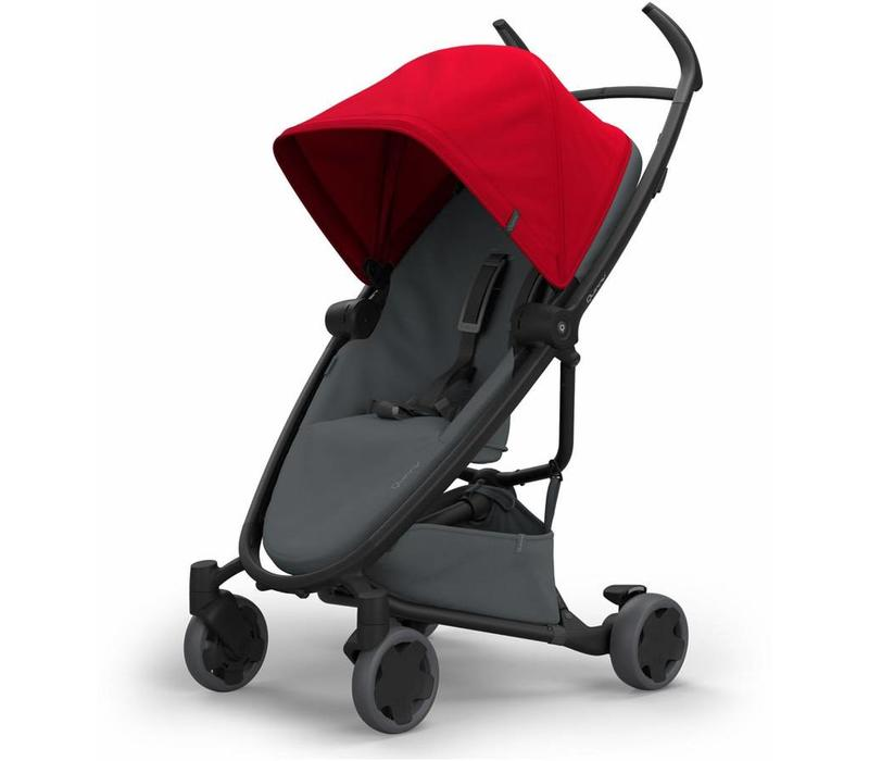 Quinny Zapp Flex Stroller With Folding Seat In Red On Graphite
