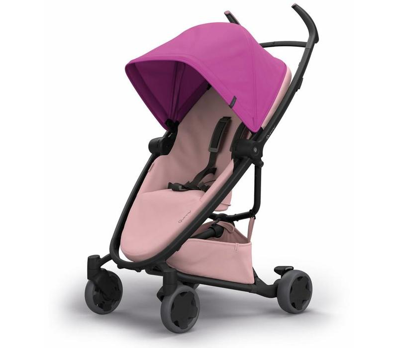 Quinny Zapp Flex Stroller With Folding Seat In Pink On Blush