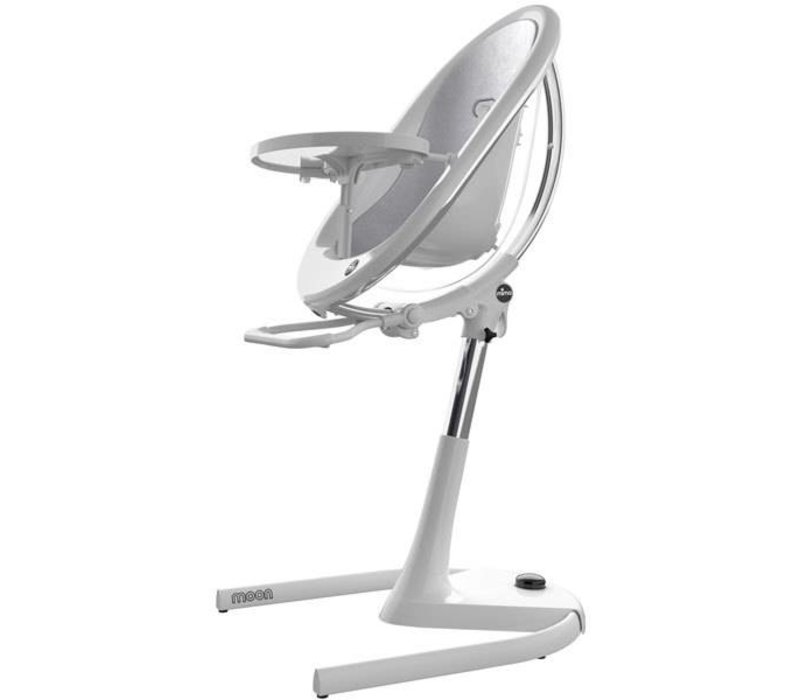 Mima Kids Moon 2G 3-in-1 Highchair In White-Silver