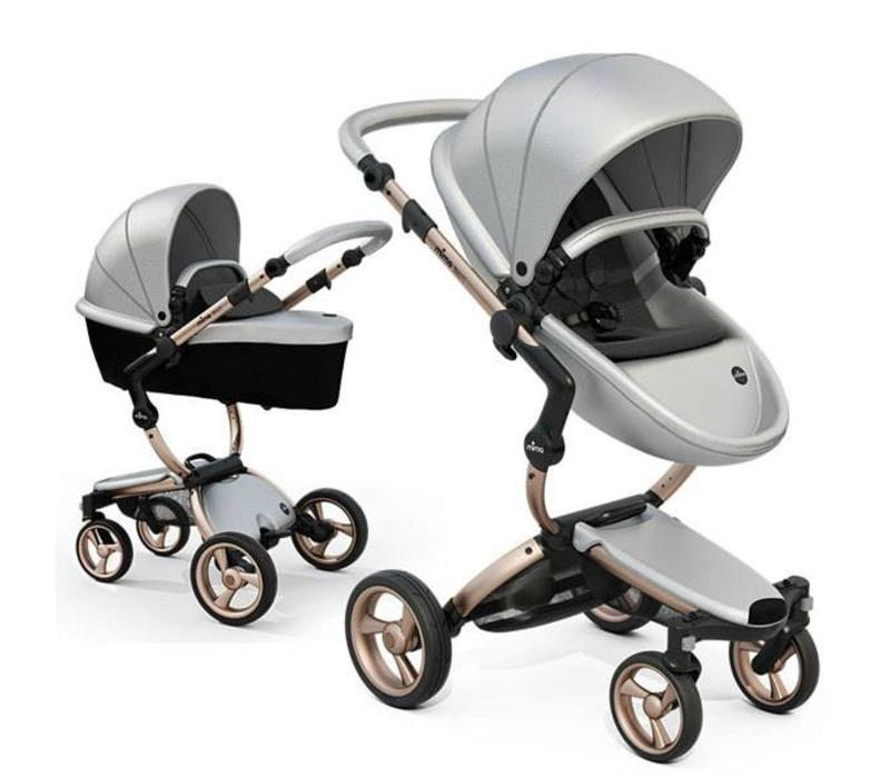 Mima Kids Xari Argento Complete Stroller With Rose Gold Frame
