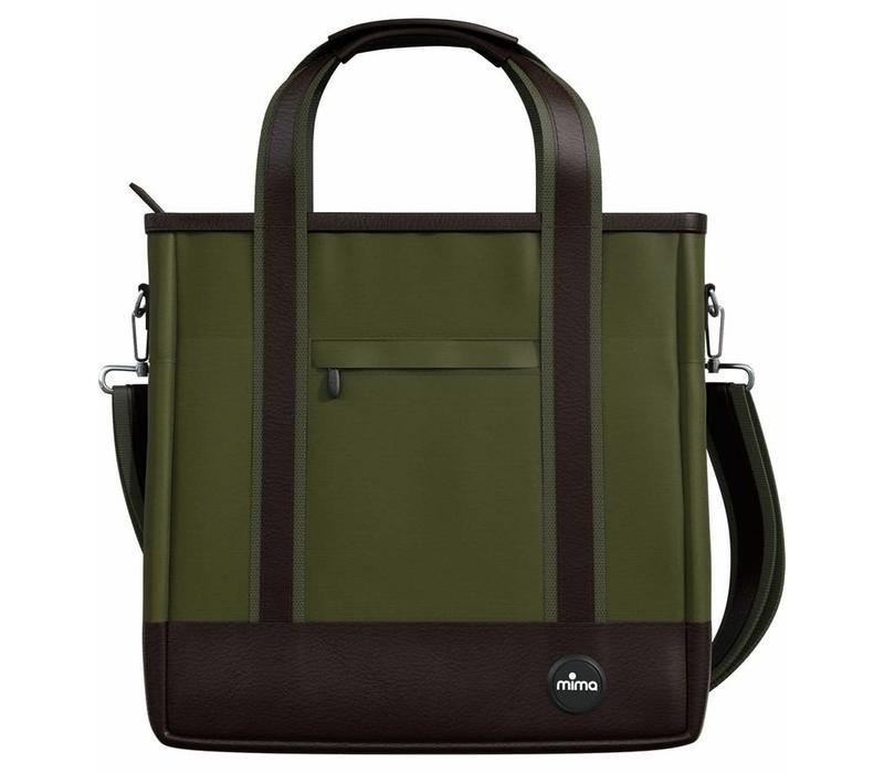 Mima Zigi Changing Bag In Olive Green