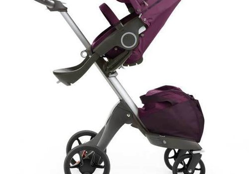 Stokke 2017 Stokke Xplory Basic In Purple Includes Silver Chassis With Seat And Textile Set
