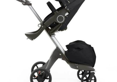 Stokke 2017 Stokke Xplory Basic In Black Includes Silver Chassis With Seat And Textile Set