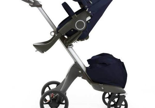 Stokke 2017 Stokke Xplory Basic In Deep Blue Includes Silver Chassis With Seat And Textile Set