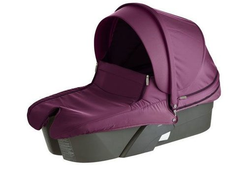 Stokke Stokke Xplory Carrycot In Silver Frame-Purple Fabric