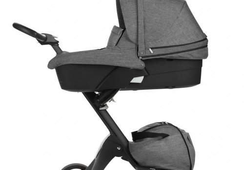 Stokke 2017 Stokke Xplory 3 In1  Black Melange -Black Chassis -Seat, Parasol, Cup Holder  and Textile Set