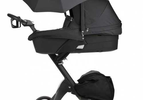 Stokke 2017 Stokke Xplory 3 In1  Black -Black Chassis -Seat, Parasol, Cup Holder  and Textile Set
